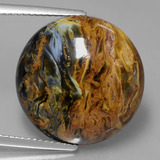 thumb image of 16.4ct Round Cabochon Grayish Blue Pietersite (ID: 427975)