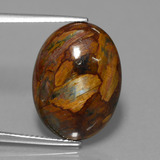 thumb image of 12.3ct Oval Cabochon Multicolor Pietersite (ID: 447690)