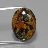 thumb image of 17.2ct Oval Cabochon Multicolor Pietersite (ID: 447691)