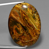thumb image of 25.5ct Oval Cabochon Multicolor Pietersite (ID: 447705)