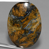 thumb image of 20.4ct Oval Cabochon Multicolor Pietersite (ID: 447708)