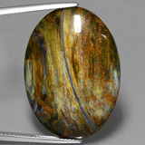 thumb image of 22.2ct Oval Cabochon Multicolor Pietersite (ID: 447713)