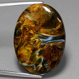 thumb image of 21.3ct Oval Cabochon Multicolor Pietersite (ID: 447859)