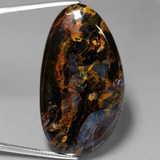 thumb image of 42ct Fancy Cabochon Multicolor Pietersite (ID: 447928)
