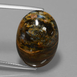 thumb image of 14.2ct Oval Cabochon Multicolor Pietersite (ID: 447960)