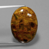 thumb image of 11.9ct Oval Cabochon Multicolor Pietersite (ID: 447961)