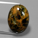 thumb image of 15.1ct Oval Cabochon Multicolor Pietersite (ID: 447967)
