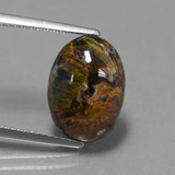 thumb image of 4.1ct Oval Cabochon Multicolor Pietersite (ID: 448032)