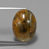 thumb image of 6.7ct Oval Cabochon Multicolor Pietersite (ID: 448033)