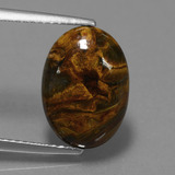 thumb image of 4.4ct Oval Cabochon Multicolor Pietersite (ID: 448054)