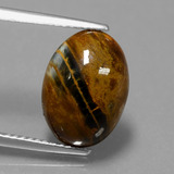 thumb image of 4.4ct Oval Cabochon Multicolor Pietersite (ID: 448064)
