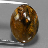 thumb image of 7.3ct Oval Cabochon Multicolor Pietersite (ID: 448108)