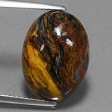 thumb image of 7.4ct Oval Cabochon Multicolor Pietersite (ID: 448111)