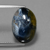 thumb image of 5.3ct Oval Cabochon Multicolor Pietersite (ID: 448128)