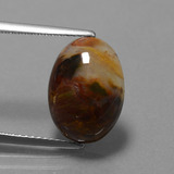 thumb image of 4.5ct Oval Cabochon Multicolor Pietersite (ID: 448152)