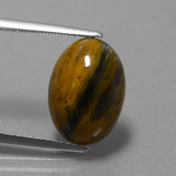 thumb image of 4.6ct Oval Cabochon Multicolor Pietersite (ID: 448154)