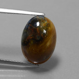 thumb image of 5.1ct Oval Cabochon Multicolor Pietersite (ID: 448155)