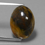 thumb image of 6.1ct Oval Cabochon Multicolor Pietersite (ID: 448231)