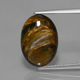 thumb image of 3.9ct Oval Cabochon Multicolor Pietersite (ID: 448272)