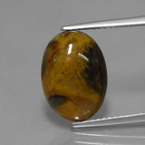 thumb image of 3.9ct Oval Cabochon Multicolor Pietersite (ID: 448277)