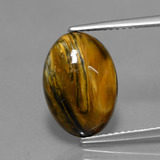 thumb image of 3.9ct Oval Cabochon Multicolor Pietersite (ID: 448280)