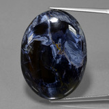 thumb image of 37.1ct Oval Cabochon Multicolor Pietersite (ID: 456171)