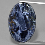 thumb image of 17.6ct Oval Cabochon Multicolor Pietersite (ID: 456177)