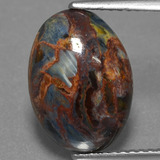 thumb image of 3.9ct Oval Cabochon Multicolor Pietersite (ID: 456323)
