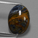 thumb image of 4.2ct Oval Cabochon Multicolor Pietersite (ID: 456507)