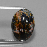 thumb image of 5.3ct Oval Cabochon Multicolor Pietersite (ID: 456512)