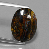 thumb image of 3.2ct Oval Cabochon Multicolor Pietersite (ID: 456514)