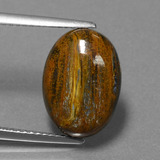 thumb image of 5.3ct Oval Cabochon Multicolor Pietersite (ID: 456518)