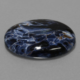 31.34 ct Oval Cabochon Multicolor Pietersite Gem 29.96 mm x 21.9 mm (Photo B)