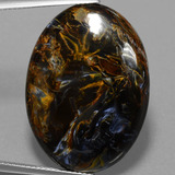 thumb image of 33.5ct Oval Cabochon Multicolor Pietersite (ID: 456679)