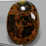thumb image of 36.5ct Oval Cabochon Multicolor Pietersite (ID: 456683)