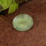 thumb image of 5ct Oval Checkerboard Green Prehnite (ID: 217303)
