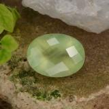 thumb image of 10.1ct Oval Checkerboard Green Prehnite (ID: 225116)