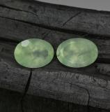 thumb image of 11.7ct Oval Facet Green Prehnite (ID: 243792)