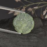 thumb image of 3.9ct Carved Flower Green Prehnite (ID: 274806)