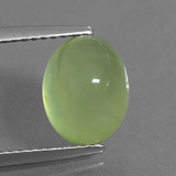 thumb image of 4.3ct Oval Cabochon Green Prehnite (ID: 306900)