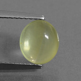thumb image of 2.1ct Oval Cabochon Green Prehnite (ID: 376740)