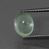 thumb image of 2.1ct Oval Cabochon Green Prehnite (ID: 407595)