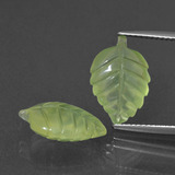 thumb image of 9.1ct Carved Leaf Green Prehnite (ID: 418145)