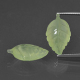 thumb image of 12.9ct Carved Leaf Green Prehnite (ID: 418149)