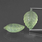thumb image of 12.4ct Carved Leaf Green Prehnite (ID: 418156)