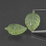 thumb image of 10.1ct Carved Leaf Green Prehnite (ID: 418174)