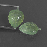 thumb image of 10.6ct Carved Leaf Green Prehnite (ID: 418199)