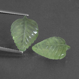 thumb image of 9.6ct Carved Leaf Green Prehnite (ID: 418277)