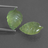 thumb image of 10.5ct Carved Leaf Green Prehnite (ID: 418284)