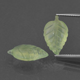thumb image of 4.8ct Carved Leaf Green Prehnite (ID: 418333)